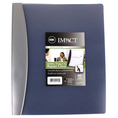 GBC Impact Hidden Swing Clip Clear Front Report Cover (Assorted) 1pk (w21530) Image 1