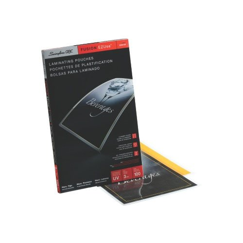 Swingline Ezuse Menu Size Thermal Laminating Pouches Image 1