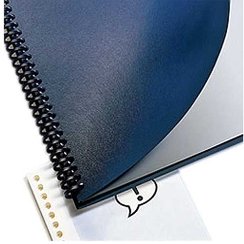 """GBC Navy 9"""" x 11"""" ProClick Punched Regency Covers 200pk (9742805G) Image 1"""