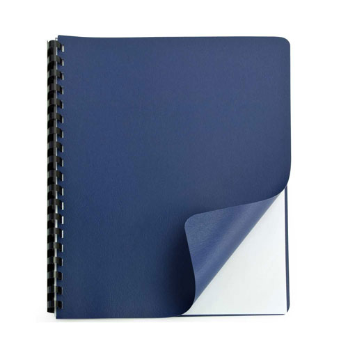 "Navy Grain 8.75"" x 11.25"" Binding Covers (25pk) (9743554X) Image 1"