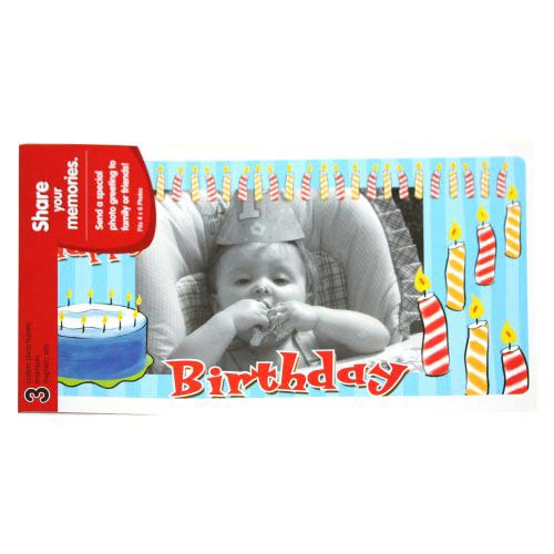 GBC PhotoPop SelfSeal Framed Pouches - Birthday - 3pk (W59405) Image 1