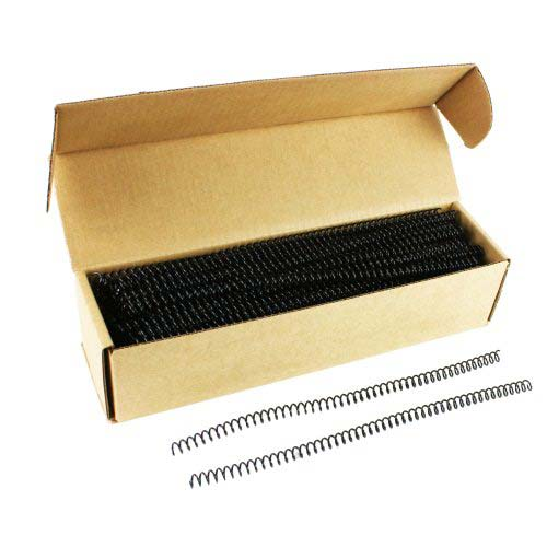 GBC Premium ColorCoil 8mm Black Spiral Coils (9665010G), Binding Supplies Image 1