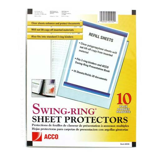 GBC Swing-Ring Sheet Protectors (A7020105) Image 1