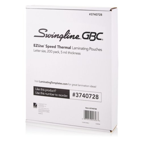 GBC Swingline EZUse 5mil Letter Size Speed Thermal Pouches 200pk (3740728) - $70.17 Image 1