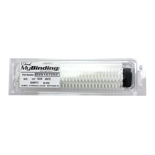 "GBC White 1/2"" Proclick Spines Free Sample (10 Pack) - Limit One per Customer Sample (25157270X) Image 1"