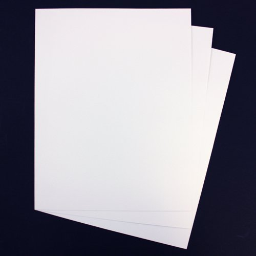 "GBC White Grain 8.5"" x 11"" Covers 200pk (9742422G) Image 1"