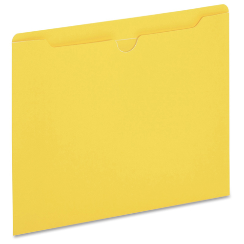 Globe-Weis Letter-Size Yellow Colored File Jackets - 100/Box (GLWB3010DTYEL) Image 1
