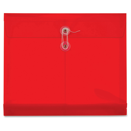 Globe-Weis Ultracolor Letter Size Side-Load Red Poly Envelopes - 5pk (GLW84527GW) - $6.29 Image 1