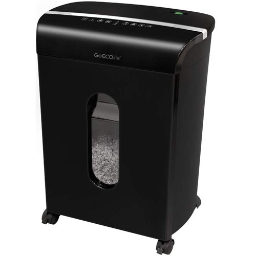 GoECOlife GMW124P Limited Edition Black 12-Sheet Level P-4 Micro-Cut Paper Shredder (GMW124P-BLK) Image 1