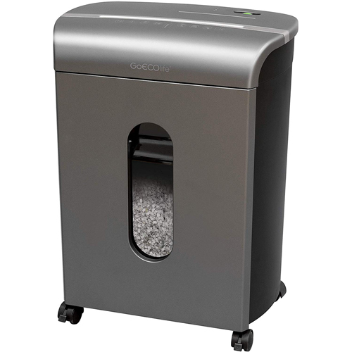 GoECOlife GMW160P Limited Edition 16-Sheet Level P-4 Micro-Cut Paper Shredder (GMW160P-TTN) Image 1