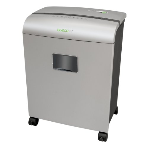 GoECOlife GMW101Pii 10-Sheet Level 4 Micro-Cut Shredder - Silver - Open Box (MYR-18-235-8), Clearance Equipment Image 1