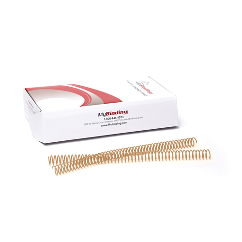 Gold 4:1 Pitch Plastic Spiral Binding Coil - 100pk (MYSC4GD) Image 1