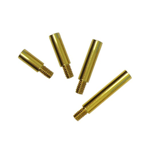 Gold Colored Aluminum Screw Post Extensions - 100pk (MYSOGDSPE) Image 1