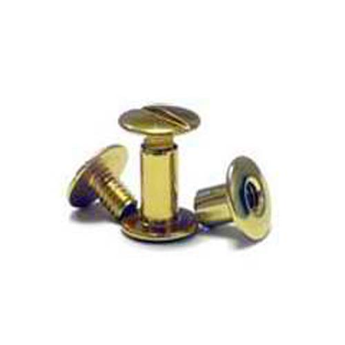 Gold Colored Aluminum Screw Posts - 100pk (MYSOGDSP) Image 1