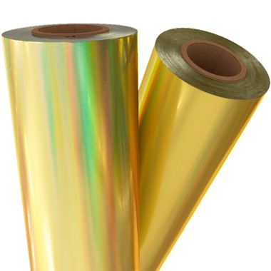 "Gold Holographic 24"" x 500' Laminating / Toner Fusing Foil (HP-GLD-52B-24) Image 1"