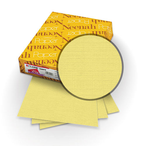 "Neenah Paper Classic Linen Gold Pearl 8.75"" x 11.25"" 84lb Covers with Windows - 25 Sets (MYCLINGPW8.75X11.25) Image 1"