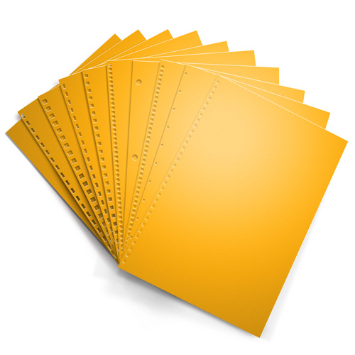 Goldenrod 20lb Punched Binding Paper - 500 Sheets (PPP20DMGO), MyBinding brand Image 1