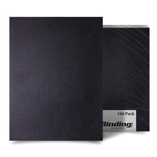 Black Grain 8.5 x 11 Letter Size Binding Covers - 100pk (MYGR8.5X11BK) Image 1