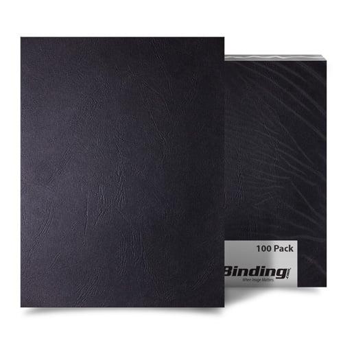 Black Grain 8 x 8 Paper Binding Covers - 100pk (MYGR8X8BK) - $39.85 Image 1
