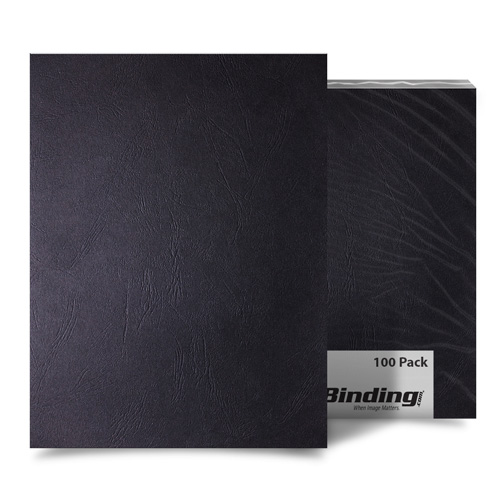 Black Grain A4 Size Paper Binding Covers - 100pk (MYGRA4BK) Image 1