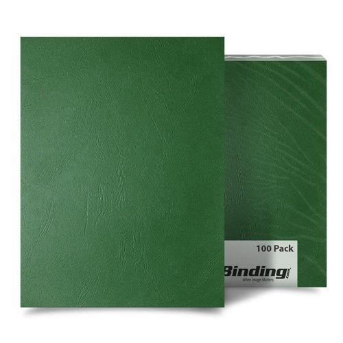 Hunter Green Grain A3 Size Paper Binding Covers - 100pk (MYGRA3GR) Image 1