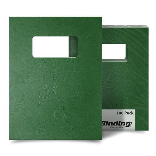 Hunter Green Grain 9 x 11 Index Allowance Covers With Windows - 100 Sets (MYGR9X11GRW) Image 1