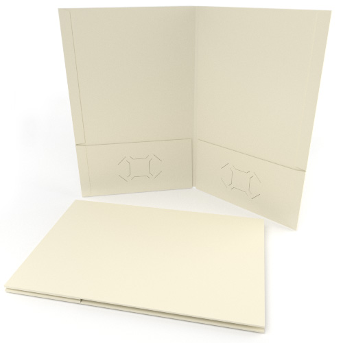 Ivory Grain Customizable Legal Size Pocket Folders - 250pk (MYGCPFLGIV) - $352.99 Image 1