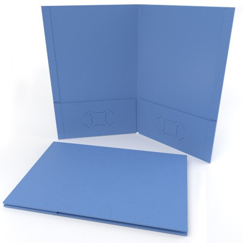 Blue Folder with Pockets Image 1