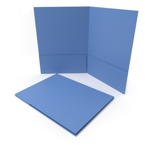 Light Blue Grain Customizable Letter Size Pocket Folders - 250pk (MYGCPFLRLB) Image 1