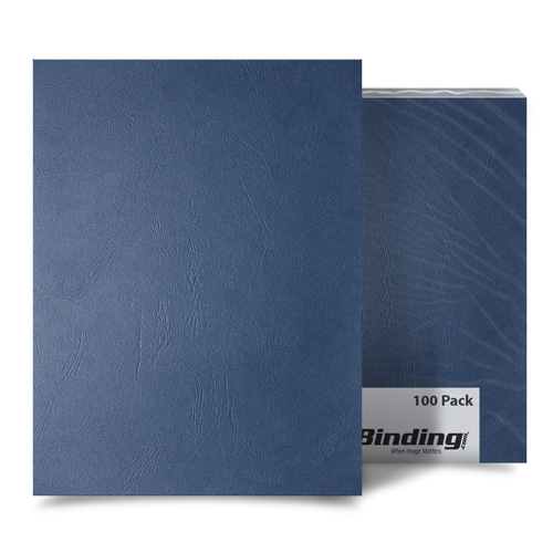Navy Grain A4 Size Paper Binding Covers - 100pk (MYGRA4NV) Image 1