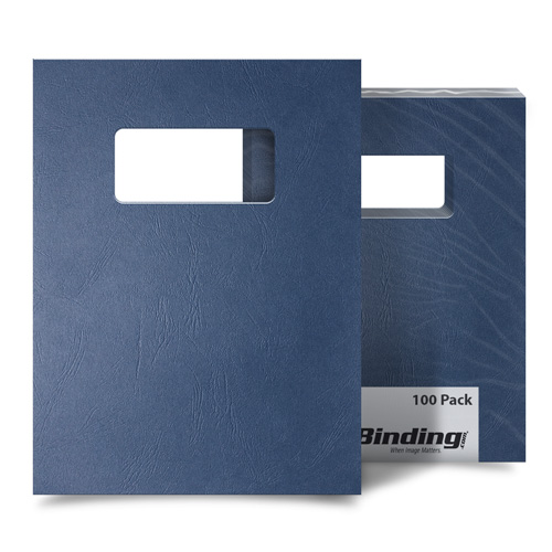 Navy Grain 8.5 x 11 Letter Size Covers With Windows (MYGR8.5X11NVW) Image 1