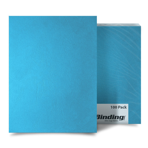 Ocean Blue Grain 8.5 x 14 Legal Size Binding Covers - 100pk (MYGR8.5X14OB) Image 1