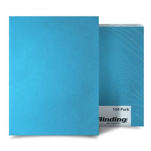 Ocean Blue Grain A4 Size Paper Binding Covers - 100pk (MYGRA4OB) Image 1