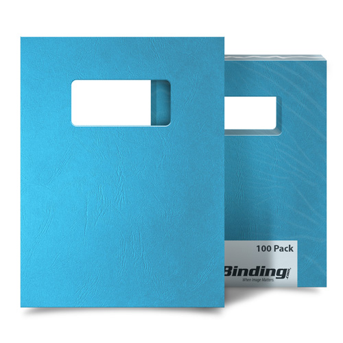 Ocean Blue Grain 9 x 11 Index Allowance Binding Covers With Windows - 100 Sets (MYGR9X11OBW) Image 1