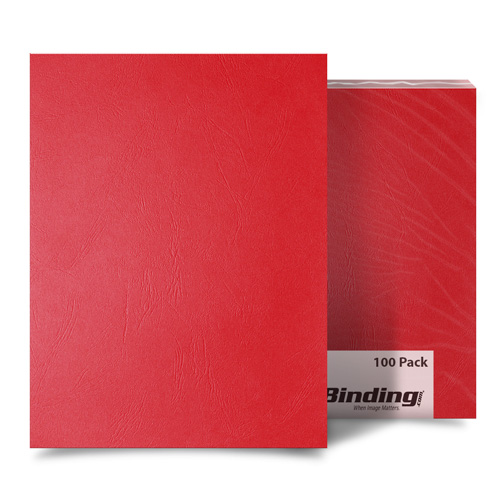 Red Grain 8.5 x 14 Legal Size Binding Covers - 100pk (MYGR8.5X14RD) Image 1