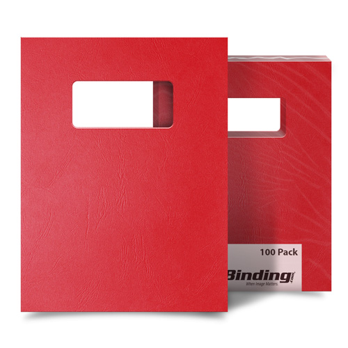 Red Grain 9 x 11 Index Allowance Binding Covers With Windows - 100 Sets (MYGR9X11RDW) Image 1
