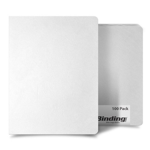 White Grain 8.75 x 11.25 Oversize Binding Covers - 100pk (MYGR8.75X11.25WH) Image 1