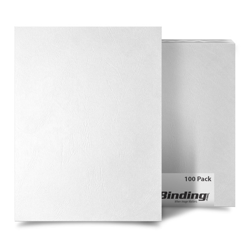White Grain 8.5 x 14 Legal Size Binding Covers - 100pk (MYGR8.5X14WH) Image 1