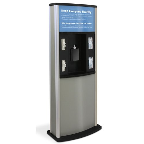 Quartet Infection Control Kiosk (Gray) (HW30KIOSK900-DG) Image 1