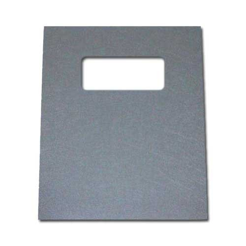 Gray Leather Grain Poly Covers Image 1
