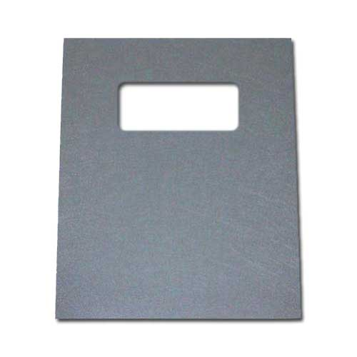 "16mil Gray Leather Grain Poly 8.75"" x 11.25"" Covers With Windows (50 sets) (AKCLT16CRGY03W) Image 1"