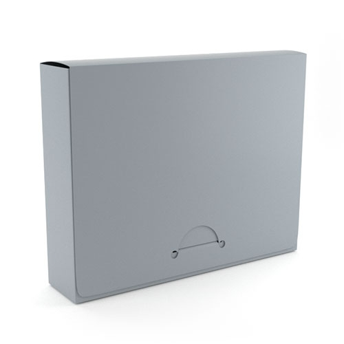 """1.5"""" Legal Gray Poly Document Boxes (MYPDBL150GR) Image 1"""