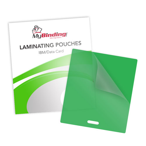 Green Laminating Pouches with Slot