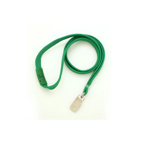 Green Breakaway Lanyard with Clip - 3/8