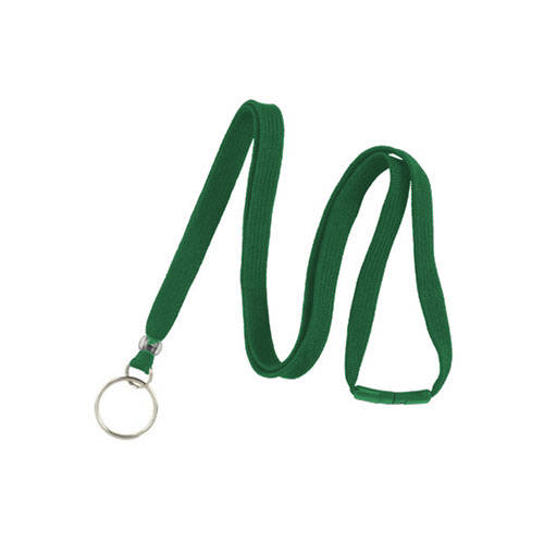 Green Breakaway Lanyard with Ring - 3/8