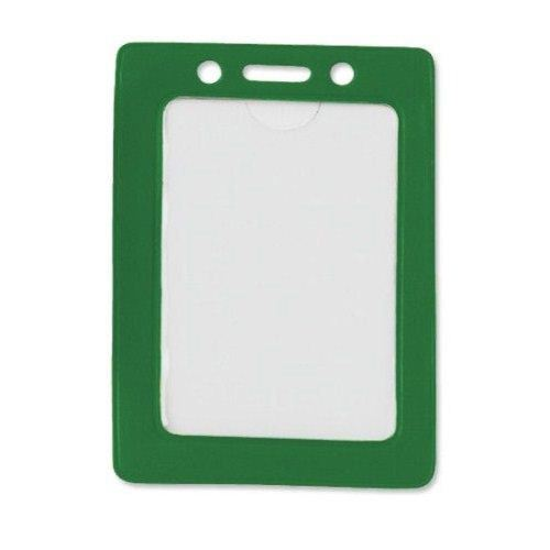 Green Credit Card Size Vertical Colored Frame Badge Holders - 100pk (1820-3004) Image 1