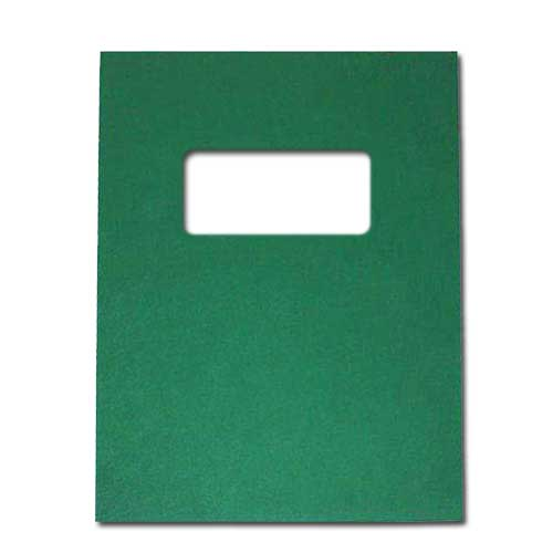 "16mil Green Leather Grain Poly 8.75"" x 11.25"" Covers With Windows (50 sets) (AKCLT16CRGR01W) - $80.74 Image 1"