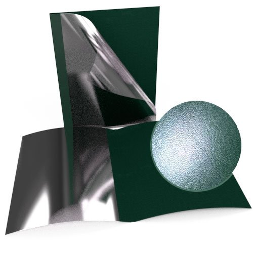 "1/16"" Green Leatherette Regency Clear Front Thermal Covers - 100pk (SO800T116GRC) Image 1"