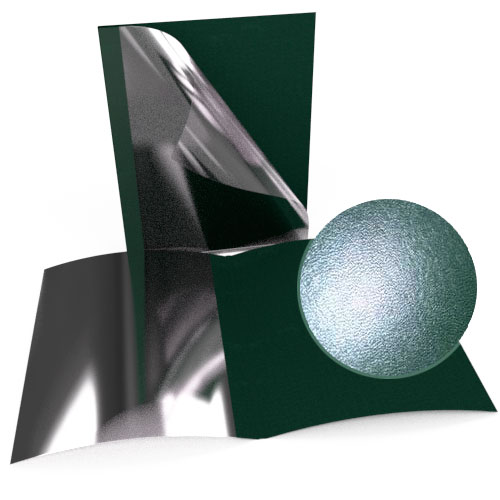 "1"" Green Leatherette Regency Clear Front Thermal Covers - 100pk (SO800T100GRC) Image 1"