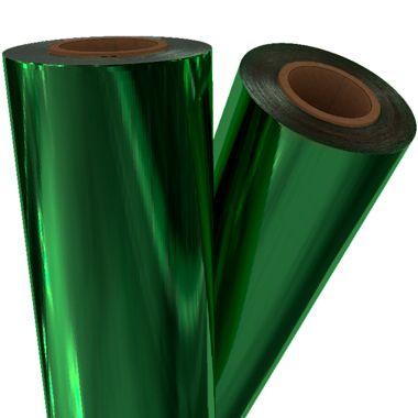 """Green Metallic 12"""" x 500' Toner Fusing/Sleeking Foil - 3"""" Core (GRN-80-3-12) Image 1"""